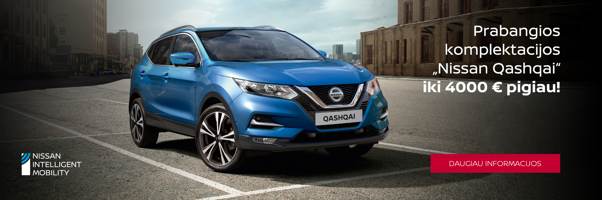 Nissan Qashqai nuolaidos iki 4000 €