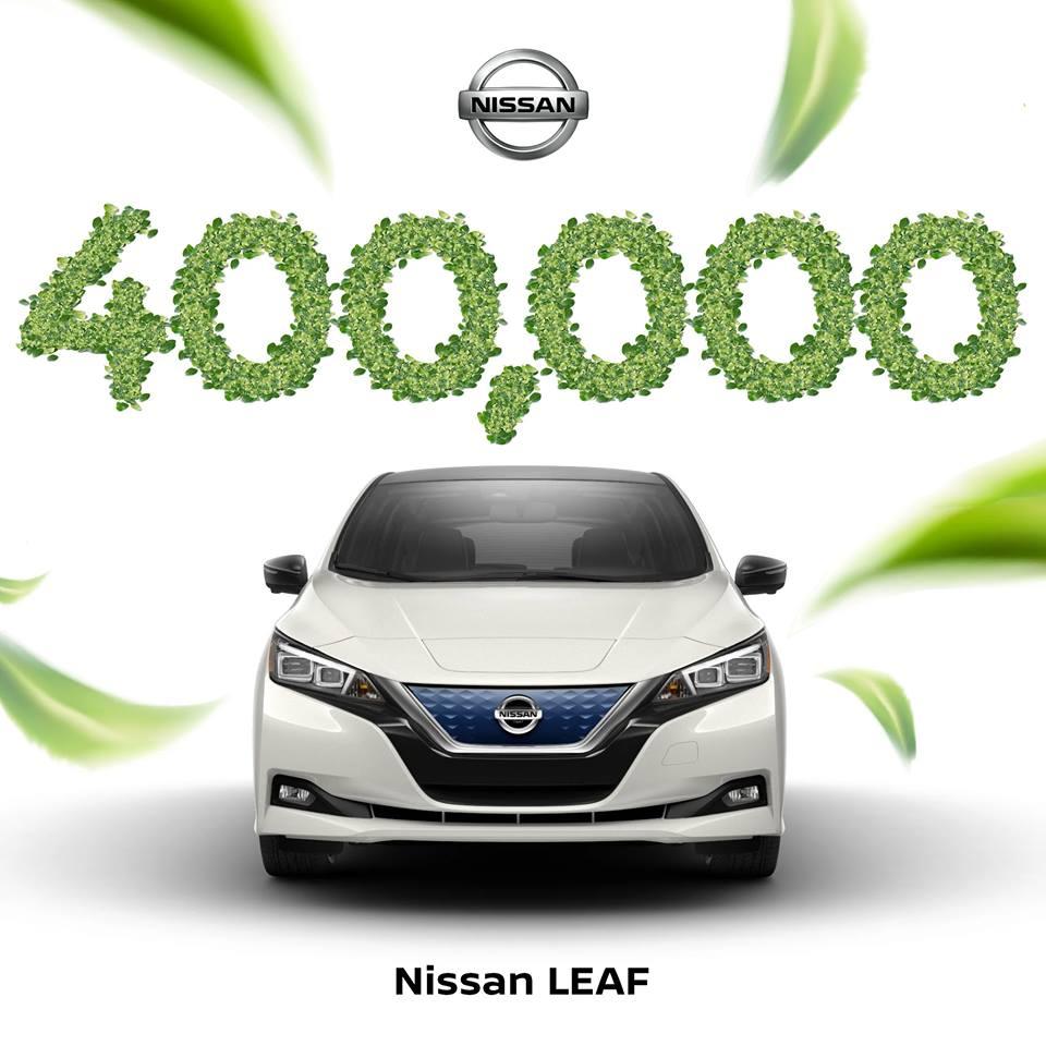 """""""Nissan LEAF"""" tapo pirmuoju istorijoje elektriniu automobiliu, kurių pagamino ir pardavė daugiau nei 400 000!!!"""